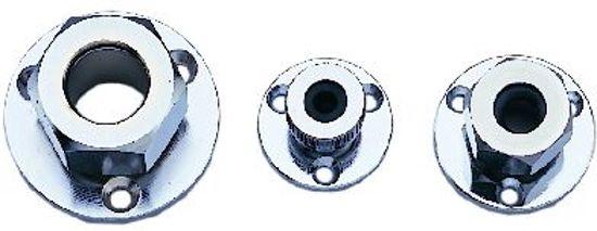 Kabeldoorvoer koper verchroomd 8mm