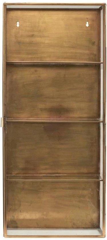 Wandkast Met Glas.Bol Com Grote Wandkast In Glas En Messing Van House Doctor