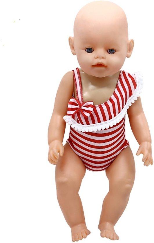 ec0d38f725d5e4 bol.com | Rood/Wit badpak voor poppen met lengte van 39-44 cm zoals ...