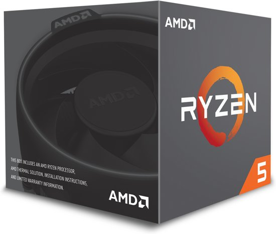 AMD Ryzen 5 1600 incl. Wraith Spire koeler