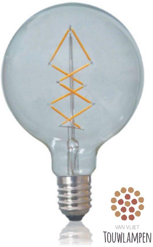 Favoriete bol.com | Grote, ronde Retro filament LED-bulb Edison lamp grote BA03