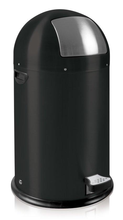 EKO Kickcan Prullenbak - 33 l - Mat Zwart