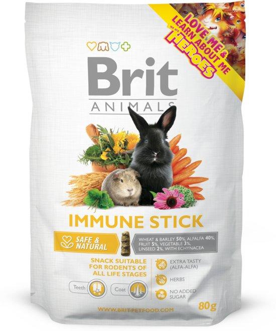 Brit animals knaagdier snack Immune sticks 4x 80 gr