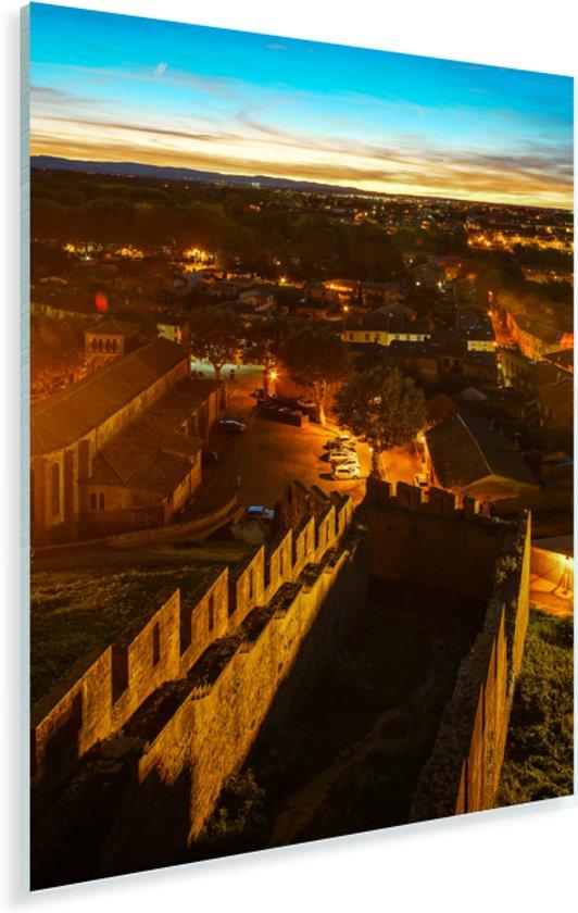 Luchtfoto van de middeleeuwse vestingstad in Frankrijk Plexiglas 120x180 cm - Foto print op Glas (Plexiglas wanddecoratie) XXL / Groot formaat!