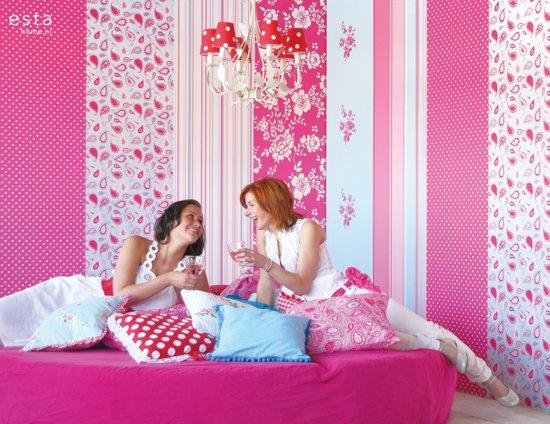 Behang Met Stippen : Bol.com behang stippen roze 115741 van estahome.nl