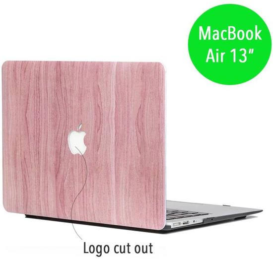 Lunso - cover hoes - MacBook Air 13 inch (2010-2017)  - houtlook roze
