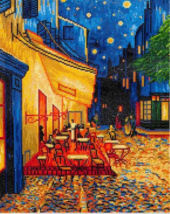 Needle Art Cafe at Night Van Gogh Diamond Painting 52x42 cm