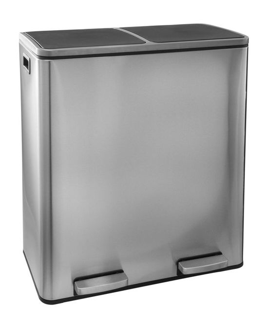 Afvalbak Keuken Aanbieding : Steeldesign Duo plus RVS prullenbak voor afvalscheiding – Pedaalemmer