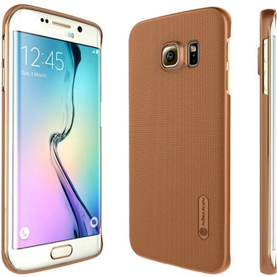 Nillkin Frosted Case Cover Samsung Galaxy S6 Edge G9250 Bruin in Roderwolde