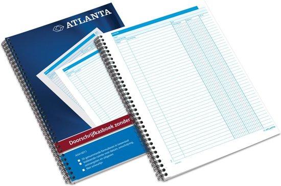 Doorschrijfkasboek Atlanta A4 50x2vel zonder BTW-kolommen