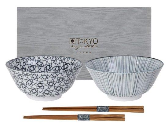 Tokyo Design Studio Nippon Black Tayo Kommen Set van 2 - Ã 17 - met chopsticks