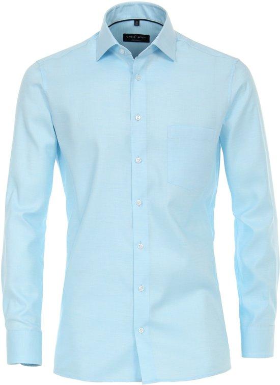 Casa Moda Overhemd Turquoise Oxford Kent Modern Fit - 38