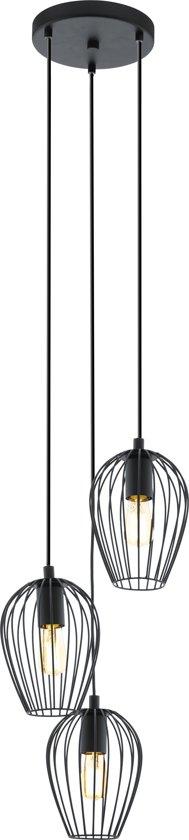 EGLO Newtown - Hanglamp - 3 Lichts - Zwart