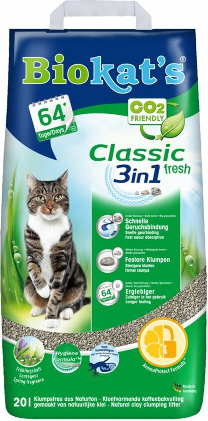 Biokat's Classic Fresh 3 in 1 - Kattenbakvulling - 20 L