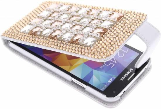 Strass En Verre Cas De Secousse Pour Samsung Galaxy S5 / Neo MvVzz
