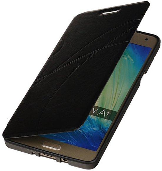 Bestcases Zwart TPU Booktype Motief Hoesje Samsung Galaxy A7