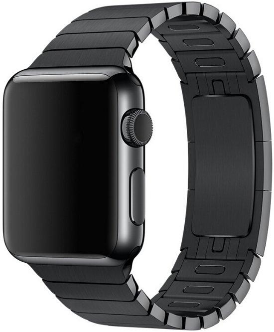 Chain Metal Apple Watch band / bandje - Zwart - 42 mm - Watchband Voor iWatch - Met Detachable Connectoren - Armband Roestvrij Staal