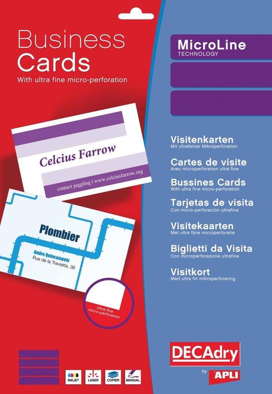 3x Decadry visitekaarten MicroLine 85x54mm, 185 g/m², 500 kaartjes