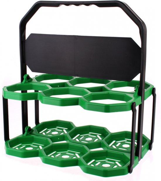 Roto Bidonrek 6 Bidons Zwart / Groen