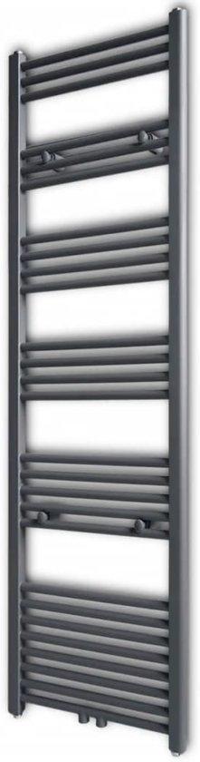 Radiator/handdoekenrek recht grijs 500x1732 mm (incl. Werkhandschoenen)