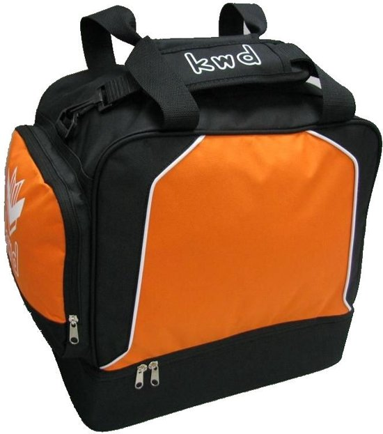 05a54fd43b7 KWD Sporttas Victoria met Schoenenvak - Oranje/zwart - Maat Junior