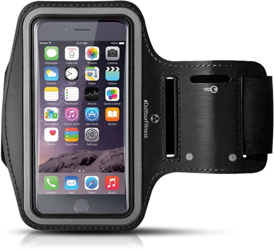 #DoYourFitness - Sportarmband - »RunnerGirl« - Hardlooparmband voor telefoon - SMALL 50 cm - Zwart