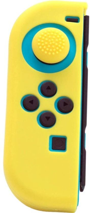 Joy Con Controller Silicone Skin - Links - Geel + Grips - Nintendo Switch
