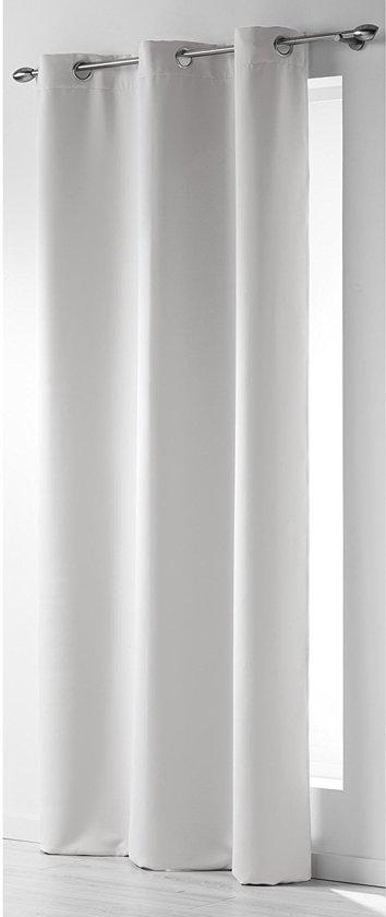 rideau verduisterend gordijn grijswit 140x240 cm kant en klaar met ringen