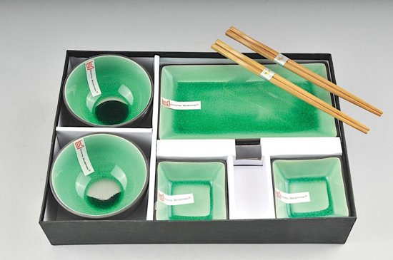 Tokyo Design Studio Glassy Green Sushi Servies - 8-delig - 2-persoons