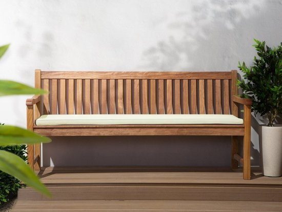 Beliani Java Tuinbank Licht houtkleur