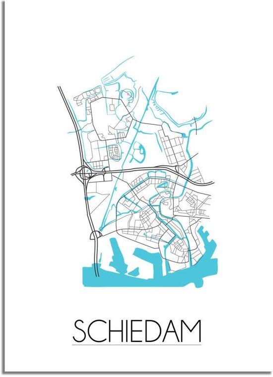 DesignClaud Schiedam Plattegrond poster A4 poster zonder fotolijst