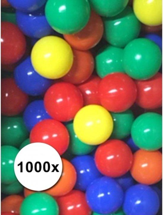 Pakket van 1000 ballenbak ballen 6cm - ballenbakballen