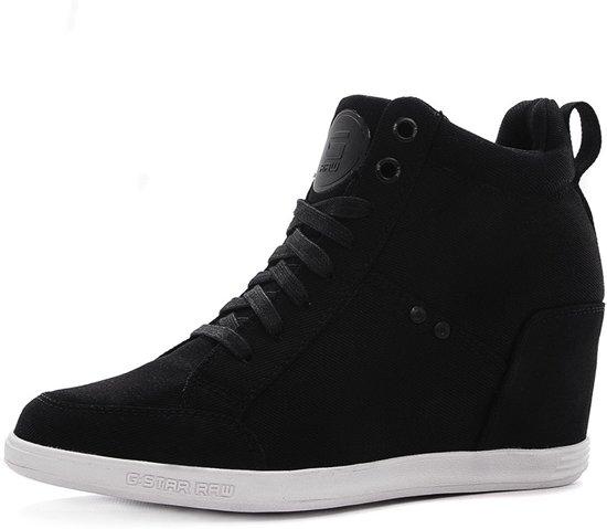 2fd0e7b22823 G-Star Raw Labour Wedge Sneaker - Damesschoenen- Zwart - Maat  41