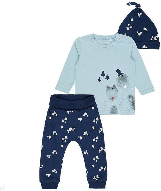 Name It Babykleding.Bol Com Name It Babykleding Setje Nitfitnis Stone Blue Maat 50