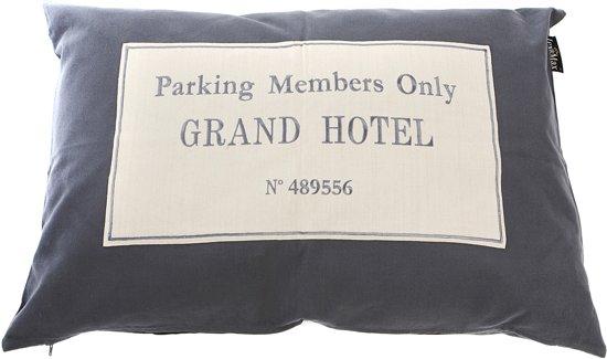 Lex & Max Grand Hotel - Hondenkussen - Rechthoek - Antraciet - 100x70cm