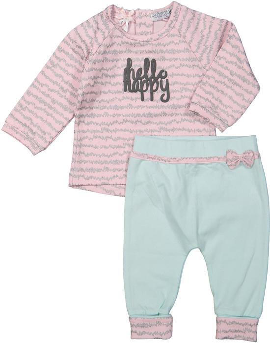 dc7f78d4661139 bol.com   Dirkje Meisjes Kledingset - Light pink + silver aop + mint ...