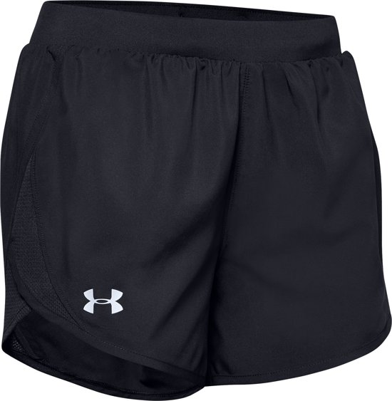 Under Armour W Fly By 2.0 Short Dames Sportbroek - Maat S - Black / Black / Reflective