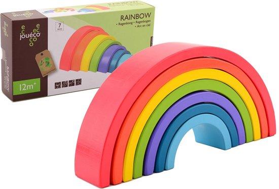 Afbeelding van Jouéco® - Regenboog 7-delig speelgoed