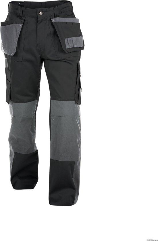 Werkbroeken met kniestukken Dassy SEATTLE Werkbroek Zwart/GrijsNL:53 BE:48