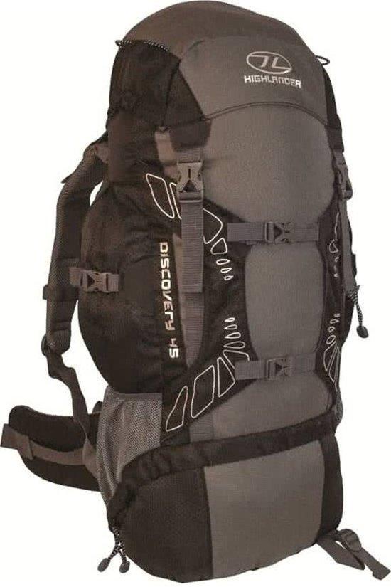 310e1183c0a bol.com | Highlander Discovery 45L Black/Grey