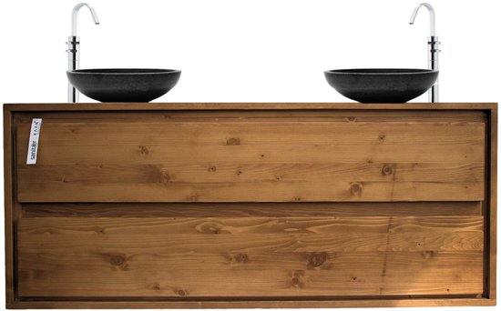 Bol aanbieding badkamermeubel onderkast massieve hout