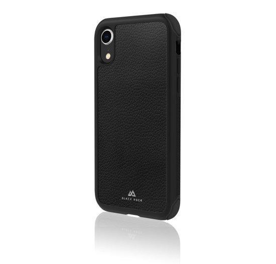 """Black Rock Cover """"Robust Real Leather"""" voor Apple iPhone Xr, Zwart"""