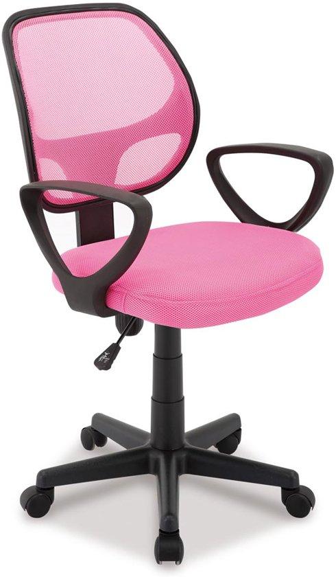 Bureaustoel Kind Roze.Buritos Bureaustoel Verstelbaar In De Hoogte Stof Polyether Vulling Roze