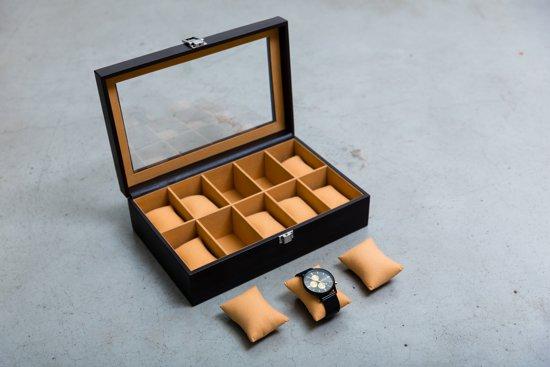 Horloge Box Horloge Doos Bruin 10 Horloges Brown Watch Box Leuk Cadeau Voor Opa Papa Mama Vriend Vriendin Kerst Vaderdag Valentijn