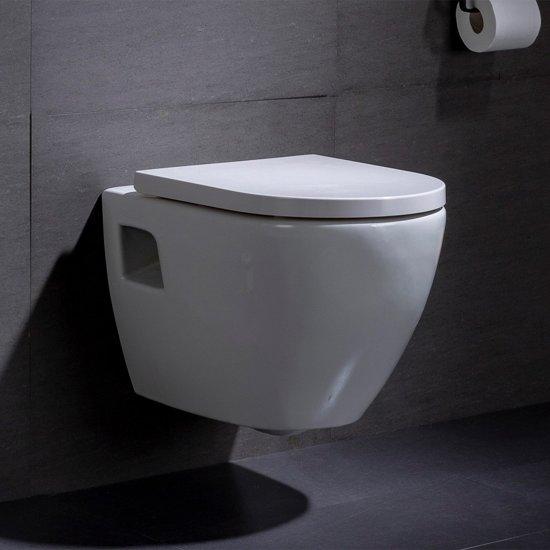 Afmeting Hangend Toilet.Wandcloset Hangend Toilet Daley Inbouwtoilet Wc Pot