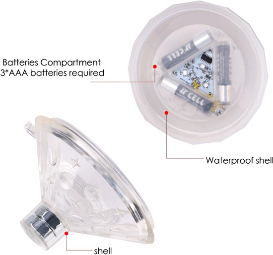 ProPool - Zwembad verlichting LED - Drijvende verlichting - LED Pool Light - Verlichting zwembaden - Jacuzzi lamp - Zwembad lamp - Water disco - Onderwater led verlichting