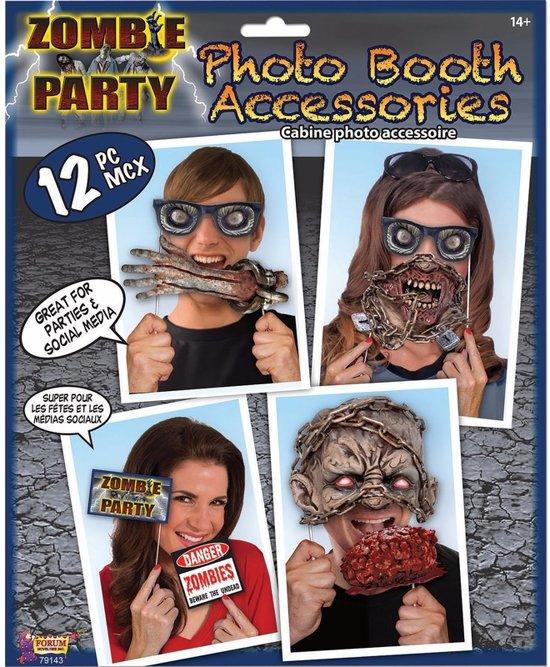 Halloween - Zombie foto prop set 12-delig