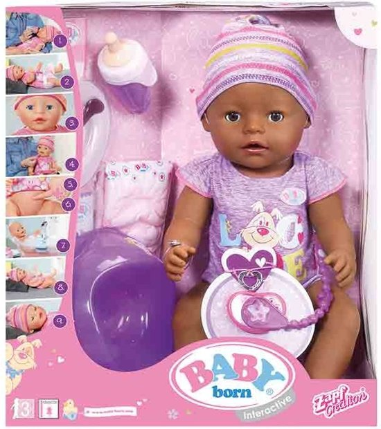 BABY born Interactieve Babypop Ethnic Roze 43 Cm