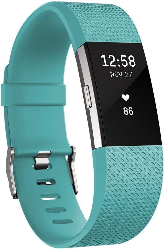 Luxe Siliconen Bandje SMALL voor FitBit Charge 2 – groen blauw | Watchbands shop.nl