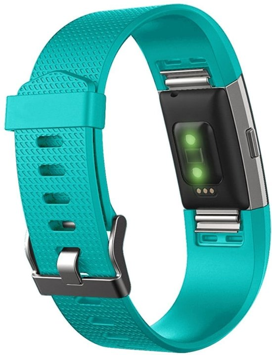 watchbands shop.nl Siliconen bandje Fitbit Charge 2 GroenBlauw Small